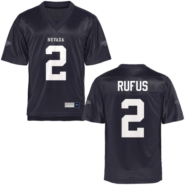 Men's Asauni Rufus Nevada Wolf Pack Game Navy Blue Football Jersey