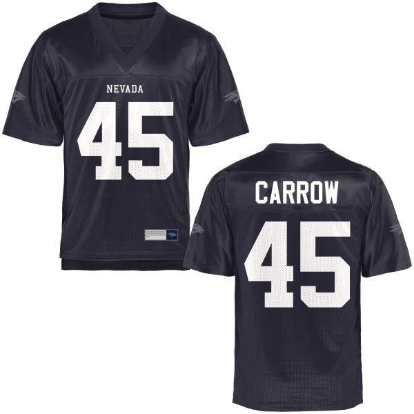 Men's Austin Carrow Nevada Wolf Pack Game Navy Blue Football Jersey