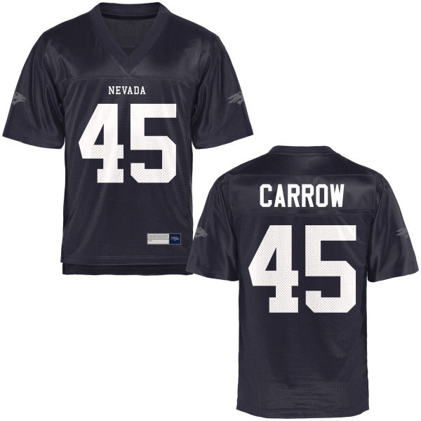 Youth Austin Carrow Nevada Wolf Pack Game Navy Blue Football Jersey