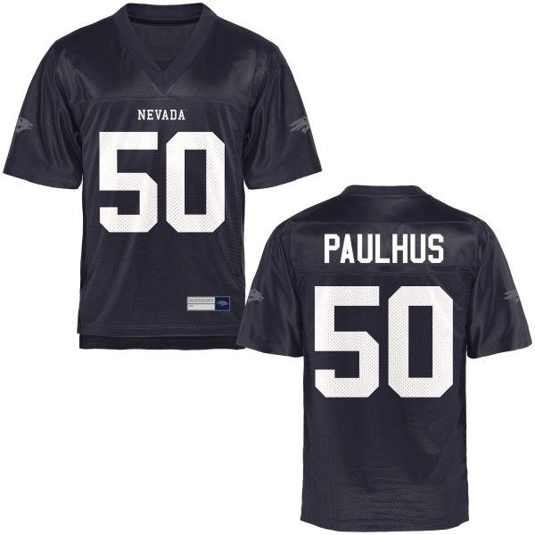 Men's Austin Paulhus Nevada Wolf Pack Game Navy Blue Football Jersey