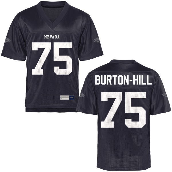Men's Carl Burton-Hill Nevada Wolf Pack Authentic Navy Blue Football Jersey