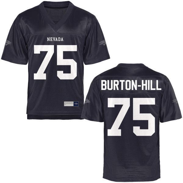 Men's Carl Burton-Hill Nevada Wolf Pack Game Navy Blue Football Jersey