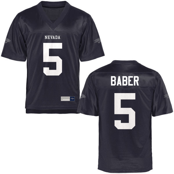 Men's Dameon Baber Nevada Wolf Pack Game Navy Blue Football Jersey