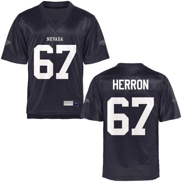 Men's Jake Herron Nevada Wolf Pack Replica Navy Blue Football Jersey