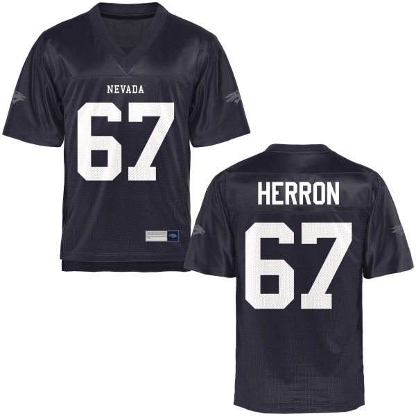 Men's Jake Herron Nevada Wolf Pack Authentic Navy Blue Football Jersey