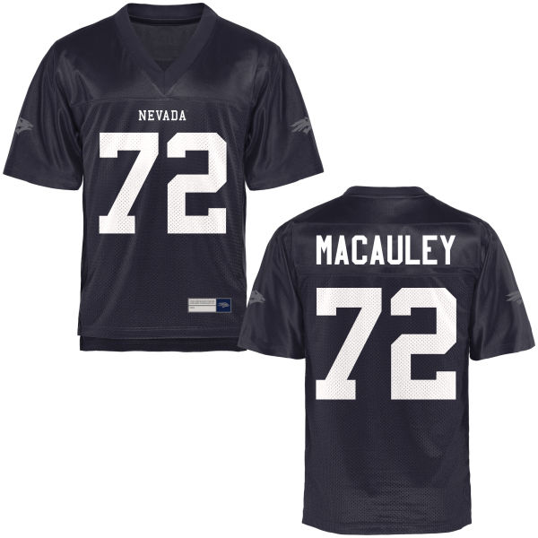 Men's Jeremy Macauley Nevada Wolf Pack Game Navy Blue Football Jersey
