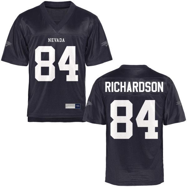 Men's Jerico Richardson Nevada Wolf Pack Authentic Navy Blue Football Jersey