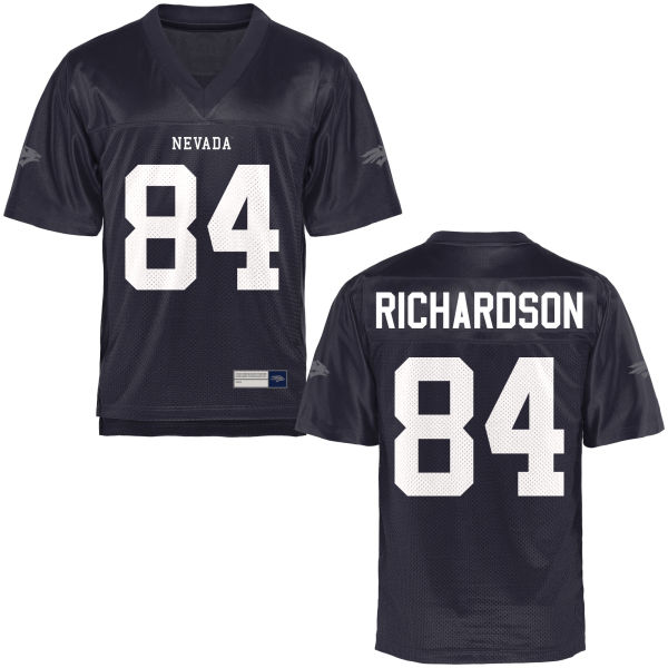 Men's Jerico Richardson Nevada Wolf Pack Game Navy Blue Football Jersey