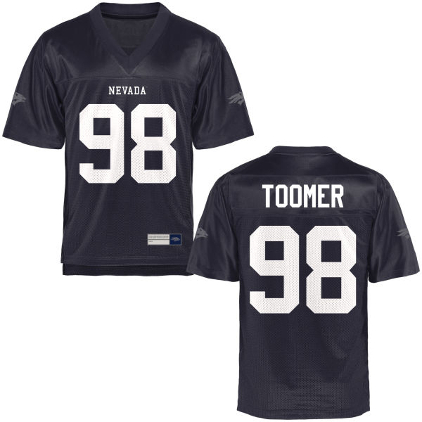 Men's Kameron Toomer Nevada Wolf Pack Game Navy Blue Football Jersey