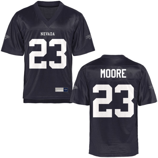 Men's Kelton Moore Nevada Wolf Pack Authentic Navy Blue Football Jersey