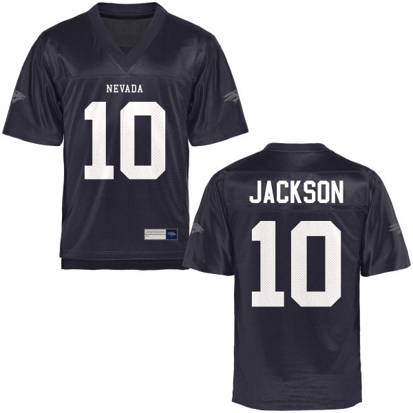 Youth L.J. Jackson Nevada Wolf Pack Game Navy Blue Football Jersey