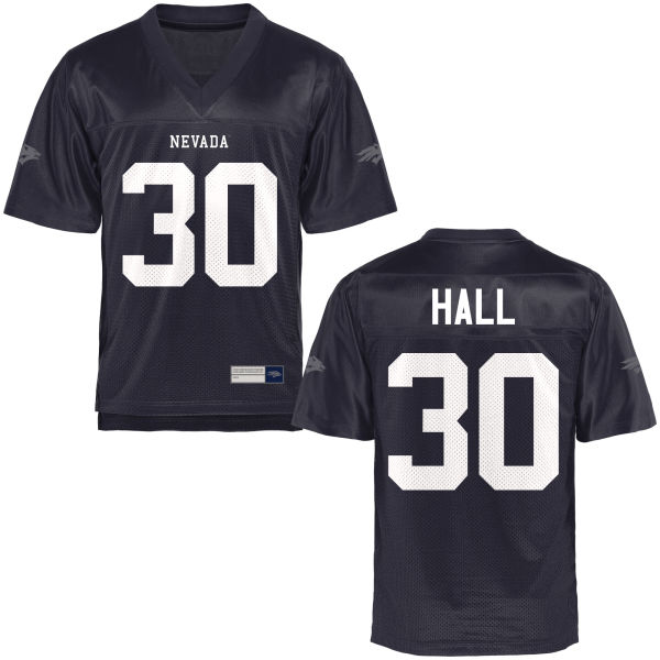 Men's Lawson Hall Nevada Wolf Pack Authentic Navy Blue Football Jersey