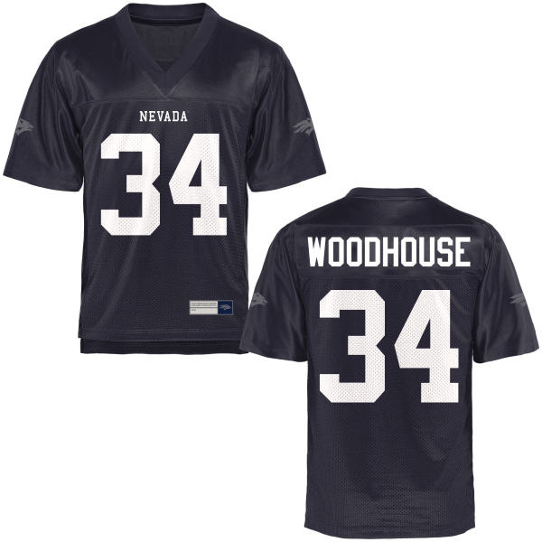 Men's Lonell Woodhouse Nevada Wolf Pack Game Navy Blue Football Jersey