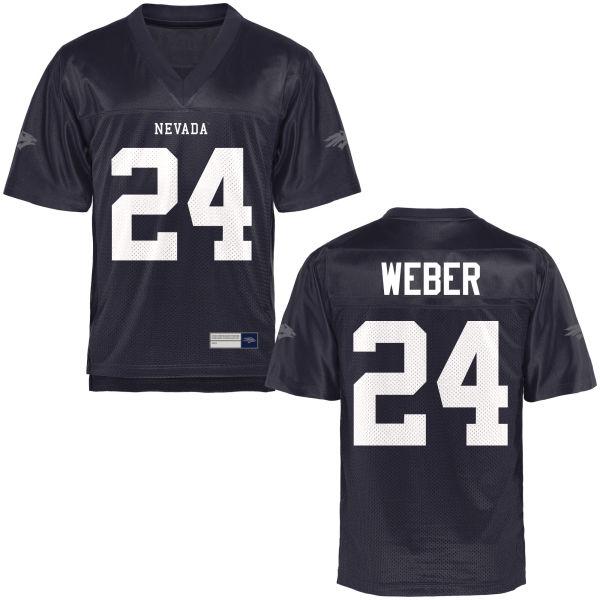 Men's Lucas Weber Nevada Wolf Pack Authentic Navy Blue Football Jersey