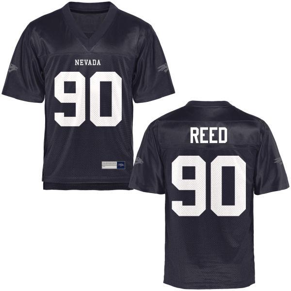 Men's Malik Reed Nevada Wolf Pack Replica Navy Blue Football Jersey