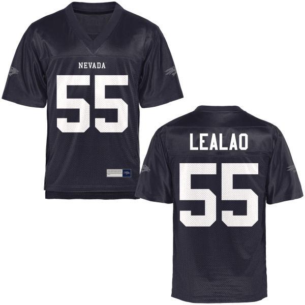 Youth Nakita Lealao Nevada Wolf Pack Game Navy Blue Football Jersey