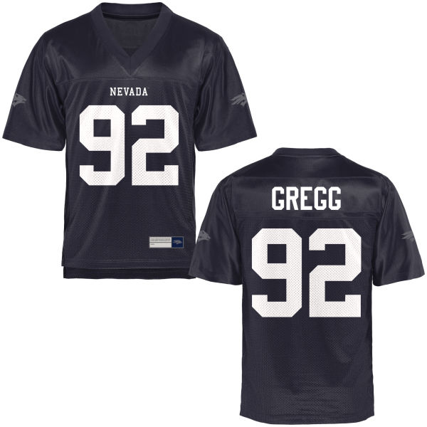 Youth Nick Gregg Nevada Wolf Pack Game Navy Blue Football Jersey