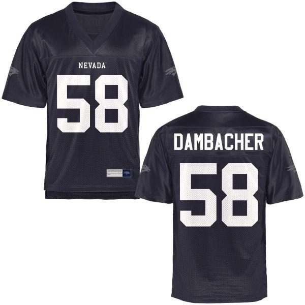 Men's Nolan Dambacher Nevada Wolf Pack Authentic Navy Blue Football Jersey