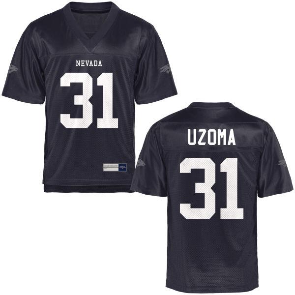 Men's Randy Uzoma Nevada Wolf Pack Authentic Navy Blue Football Jersey
