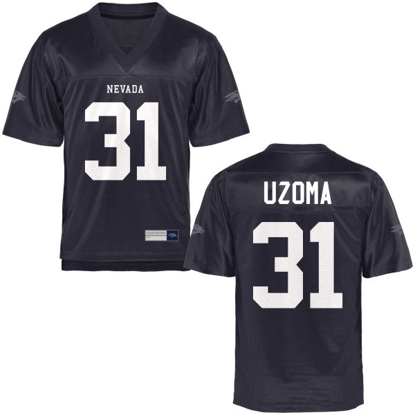 Men's Randy Uzoma Nevada Wolf Pack Game Navy Blue Football Jersey