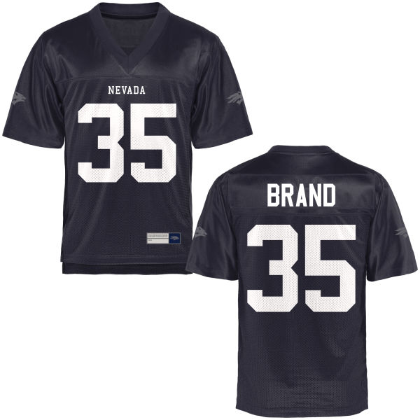 Youth Riley Brand Nevada Wolf Pack Game Navy Blue Football Jersey