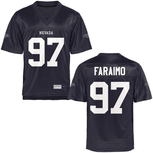Men's Salesa Faraimo Nevada Wolf Pack Limited Navy Blue Football Jersey