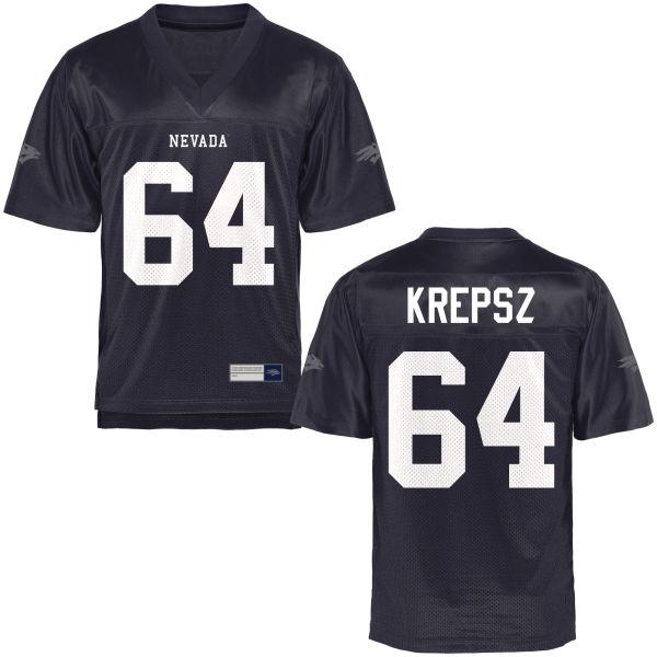 Youth Sean Krepsz Nevada Wolf Pack Game Navy Blue Football Jersey