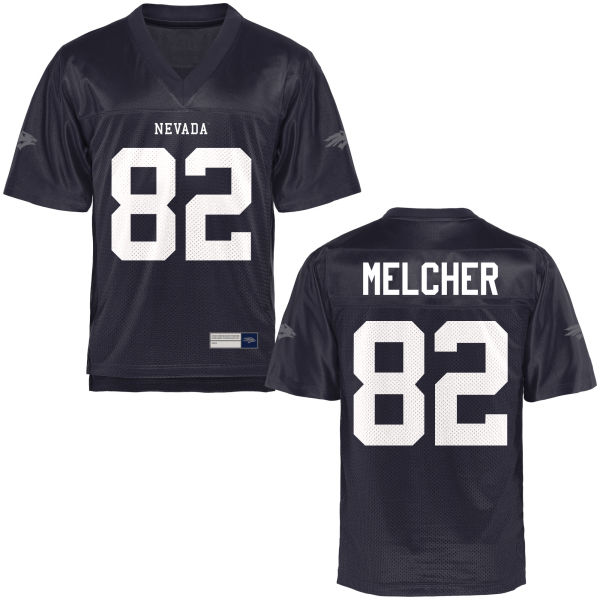 Men's Tucker Melcher Nevada Wolf Pack Authentic Navy Blue Football Jersey