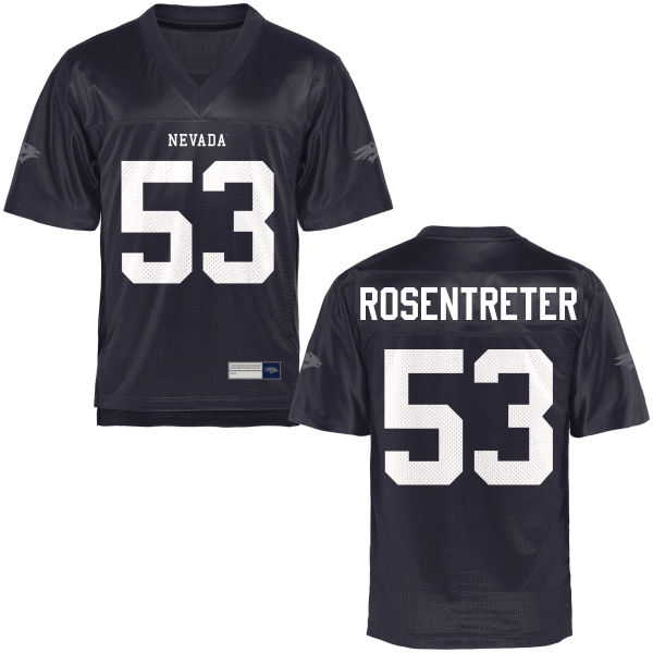 Men's Tyler Rosentreter Nevada Wolf Pack Authentic Navy Blue Football Jersey