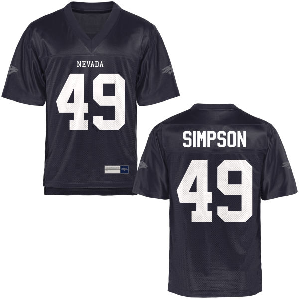 Men's Alec Simpson Nevada Wolf Pack Game Navy Blue Football Jersey