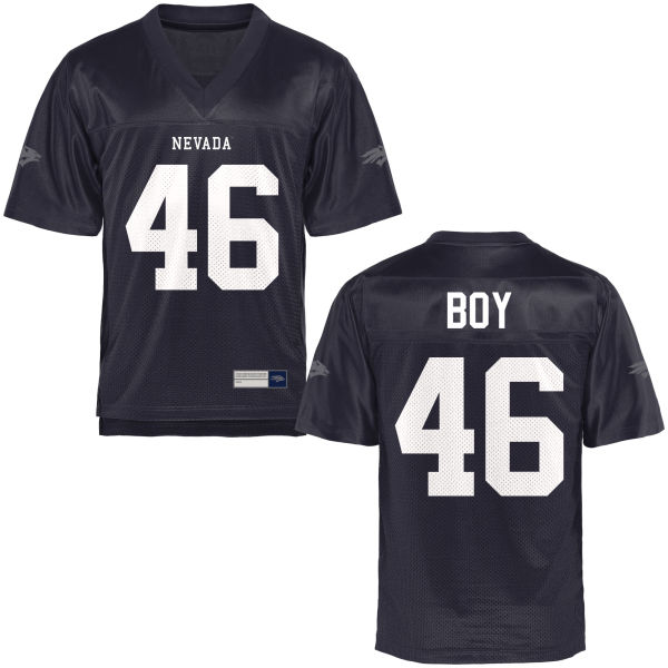 Men's Alex Boy Nevada Wolf Pack Authentic Navy Blue Football Jersey