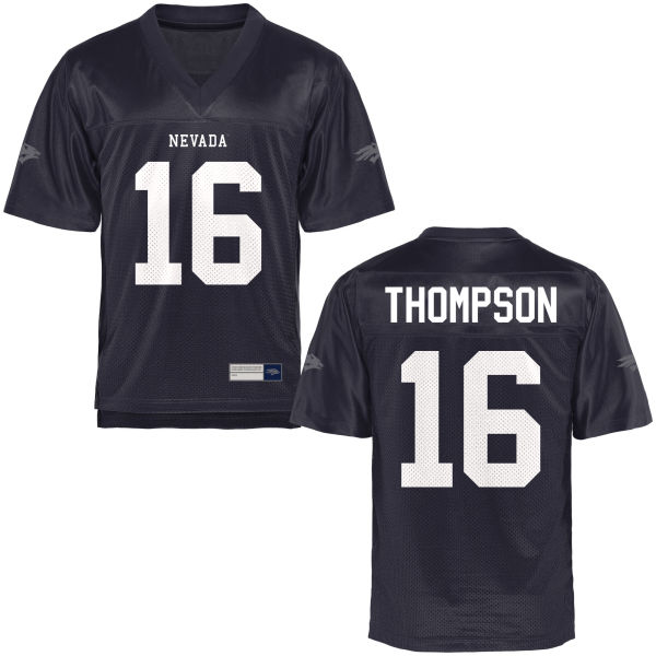 Youth Brandon Thompson Nevada Wolf Pack Game Navy Blue Football Jersey