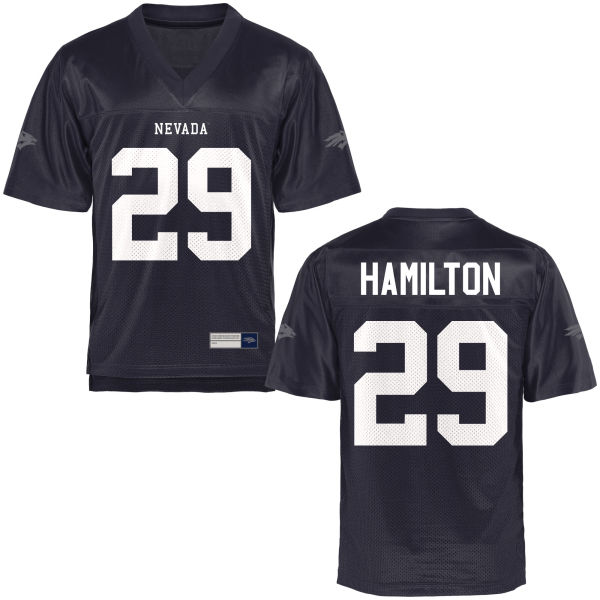 Youth Isaiah Hamilton Nevada Wolf Pack Game Navy Blue Football Jersey