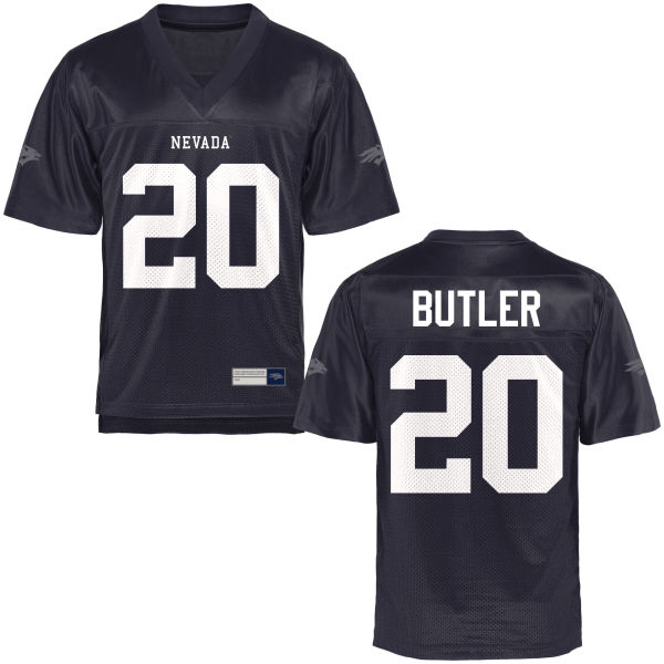 Men's James Butler Nevada Wolf Pack Game Navy Blue Football Jersey