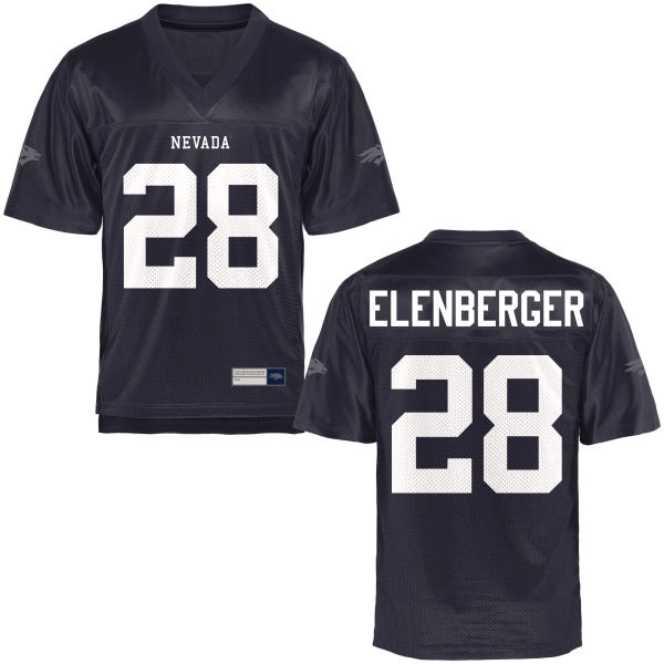Men's Jason Elenberger Nevada Wolf Pack Game Navy Blue Football Jersey
