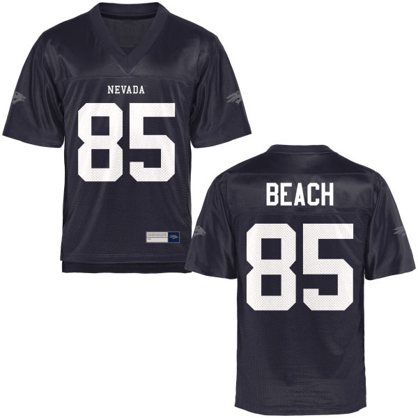 Men's Miles Beach Nevada Wolf Pack Authentic Navy Blue Football Jersey