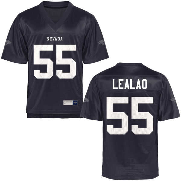 Men's Nakita Lealao Nevada Wolf Pack Authentic Navy Blue Football Jersey