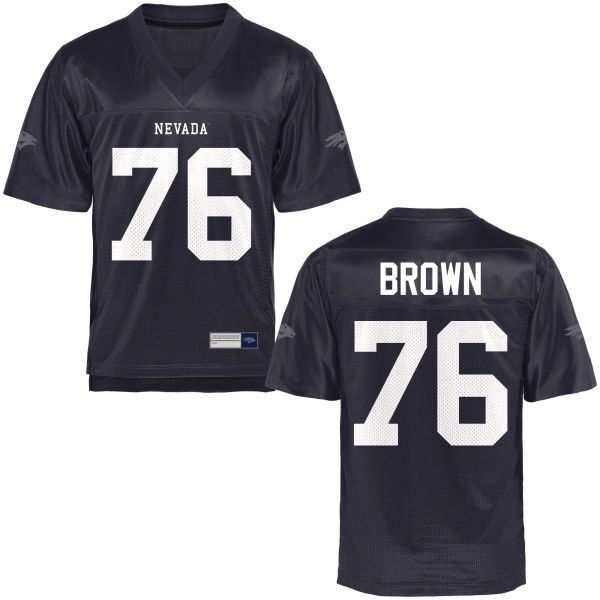 Men's Nate Brown Nevada Wolf Pack Authentic Navy Blue Football Jersey
