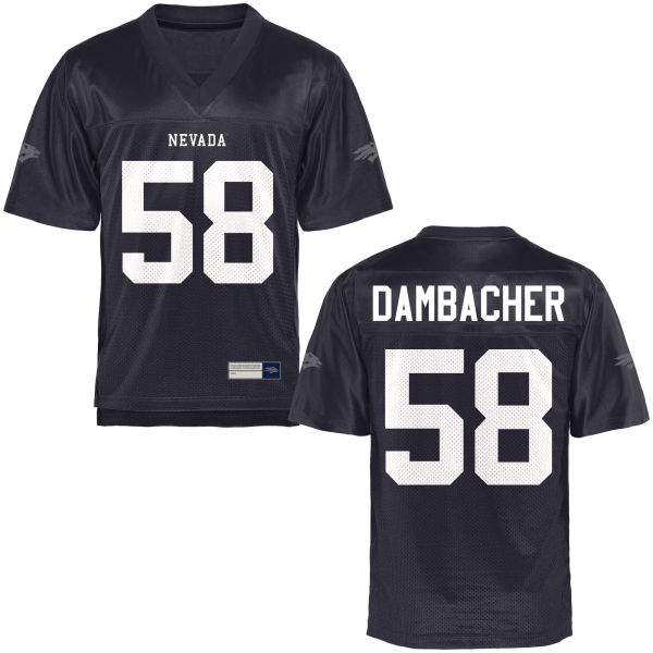 Men's Nolan Dambacher Nevada Wolf Pack Game Navy Blue Football Jersey