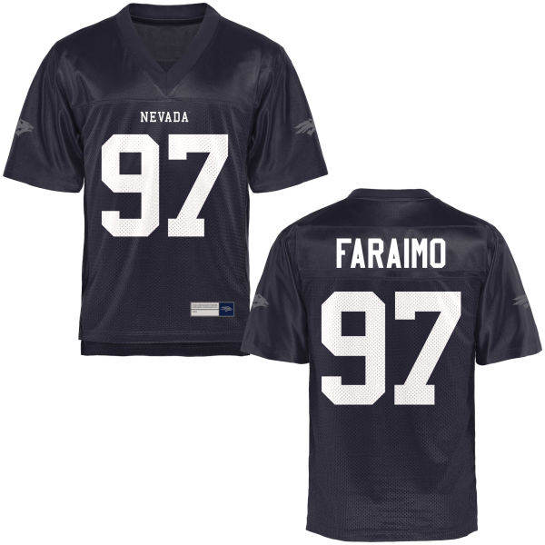 Youth Salesa Faraimo Nevada Wolf Pack Game Navy Blue Football Jersey