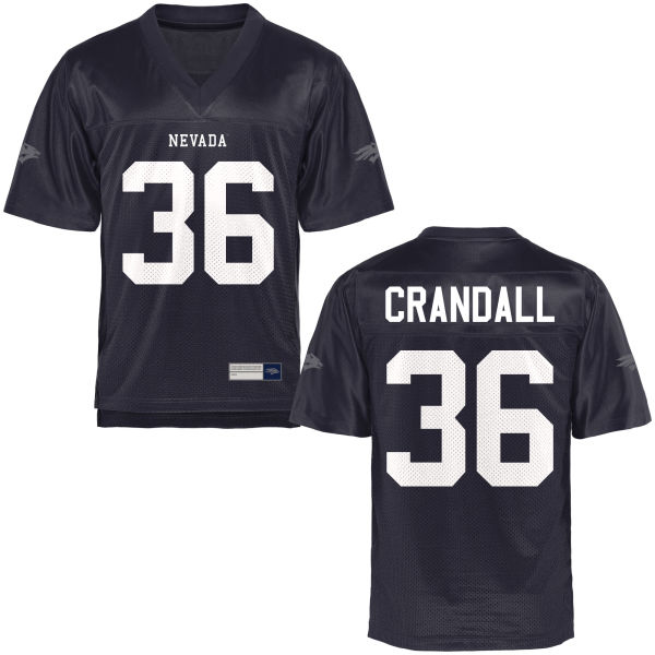 Men's Tyler Crandall Nevada Wolf Pack Authentic Navy Blue Football Jersey